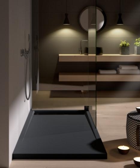 Plato de ducha con canto lateral