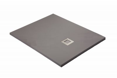 Plato de ducha carga mineral color gris cemento.