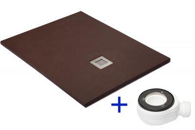 Plato de ducha antural de resina con carga mineral